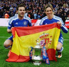 Mata & Torres #Chelsea #Spain
