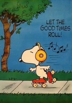 Snoopy on skates