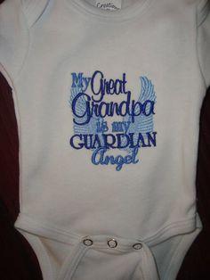 Great Grandpa Guardian Angel Onsie or Shirt by Nannasinspirations