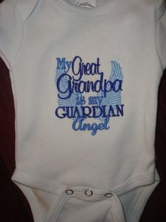 Great Grandpa Guardian Angel Onsie or Shirt by Nannasinspirations