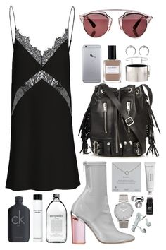 """///"" by mimiih ❤ liked on Polyvore featuring Christian Dior, Byredo, Yves Saint Laurent, Dogeared, CÉLINE, Humble Chic, Larsson & Jennings, MTWTFSS Weekday, Bobbi Brown Cosmetics and Calvin Klein"