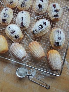 Madeleine's with blueberries