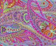 Kaffe Fassett Paisley Jungle Grey Fabric - Sewing Fabrics - Fabrics - Sewing, Fabric and Quilting RUCraft Textures Patterns, Fabric Patterns, Print Patterns, Fabric Design, Pattern Design, Cotton Crafts, Fabric Crafts, Textiles, Grey Fabric