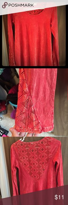 Altar'd State Red Tunic Top Perfect condition. Size small. Non smoking home. Altar'd State Tops