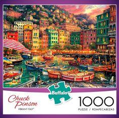 Chuck Pinson Escapes Vibrant Italy 1000 Piece Jigsaw Puzzle - Buffalo Games