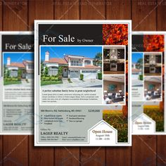 For Sale Real Estate Marketing, Open House Flyer Template, Realty Marketing Template by CreativeEtsyDesigns on Etsy