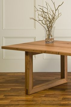 Blackbutt Contemporary Dining Table with mitred tenon legs