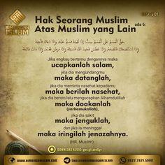 hak seorang muslim atas muslim yang lain