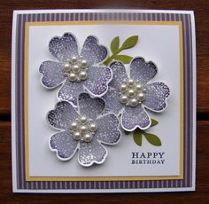 Flower Shop Bundle in Purple by stamp my day - Cards and Paper Crafts at Splitcoaststampers
