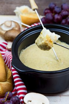 This vegan cheese fondue is a great and fun way to gather friends and family. It's nut-free, extremely creamy, wine-infused, and ready in only 10 minutes!