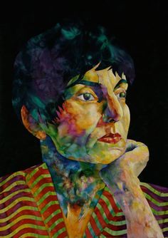 Esterita Austin  - Portrait of her friend, Roxane Lessa.   Fabulous use of color and contrast. Go to her site for DVD.