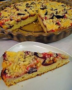 kudy-kam...: Švestkový jogurtový koláč Sweet Cakes, Sweet Recipes, French Toast, Bakery, Food And Drink, Cooking Recipes, Pie, Sweets, Breakfast