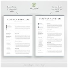 Professional Resume Template 1 and 2 Page Resume Modern CV image 4 One Page Resume Template, Student Resume Template, Modern Resume Template, Resume Templates, Templates Free, Cover Letter For Resume, Cover Letter Template, Letter Templates, Microsoft Word 2007
