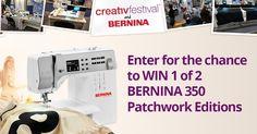 Win a BERNINA 350 PE and CreativFestival tickets