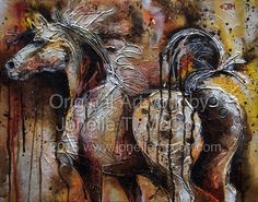 """""""Turning Back Time"""" 16""""x20""""x1.5"""" gallery wrap textured acrylic- $500.00"""