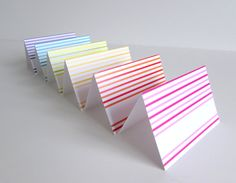 Set of 8 Tent Style Paper Place Card Party by IdAndEgoCelebrations
