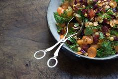Moroccan carrot and chickpea salad -- what a lovely looking salad!