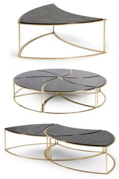 Best Coffee Table Ideas (Modern, Unique, and Simple Design) - This unique 6 piece modular coffee table is available in 3 different configurations: as a single se - Modular Furniture, Steel Furniture, Repurposed Furniture, Unique Furniture, Table Furniture, Rustic Furniture, Contemporary Furniture, Furniture Design, Furniture Movers