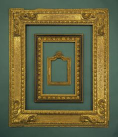 this layered frame concept would look amazing with my striped walls