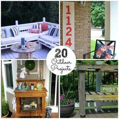 20 outdoor projects -- Tatertots and Jello #DIY
