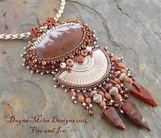 Image result for winter bead embroidery necklace