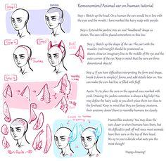 Book of Sul — Kemonomimi/Animal ear on human tutorial as...