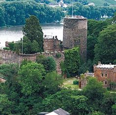 "The castles on the Rhine River were first constructed to protect the land from marauders. But when fort owners realized their positions on the river could lead to a profit, they created ""medieval toll booths"" and levied charges on ships passing by."