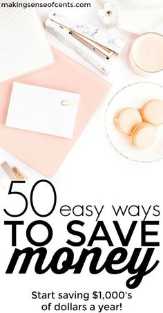 Are you looking for easy ways to save money? Here are over 40 tips on how to save money fast so that you can save thousands of dollars each year!