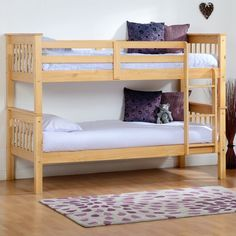 Features: With slatted frame, guardrails and ladder Product Type: Bunk Bed Colour: Oak Frame Material: Wood Frame Material Details: Wood Species: Oa Oak Bunk Beds, Cabin Bunk Beds, Futon Bunk Bed, Bunk Beds With Drawers, Bunk Bed With Trundle, Triple Sleeper Bunk Bed, High Sleeper Bed, Toddler Bunk Beds, Convertible Toddler Bed