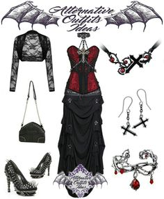 Vampire Outfits, Gothic Outfits, Nice Outfits, Emo Outfits, Punk Fashion, Gothic Fashion, Goth Clothes, Book Week, Alternative Outfits