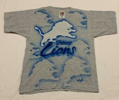 Detroit Lions T-shirt Airbrush