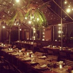 Our garden cafe lit up for a recent meeting of creative minds. Image via instagram KarahMattei #styersgardencafe #regram