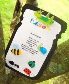 Bug Party Invitations Personalized And By TakeitPersonallybyM 3600