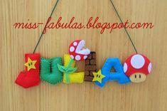 Super Mario Party, Super Mario Bros, Felt Diy, Felt Crafts, Diy And Crafts, Mario Crafts, Art Hama, Mario Room, Paper Games