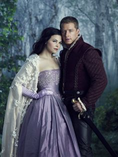Once Upon a Time ~ Snow White and Prince Charming. I think I prefer his costume to hers,but it's just an opinion.