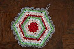 Ravelry: Vintage Crochet Climbing Trellis Hexagon Potholder pattern by Allison Baker