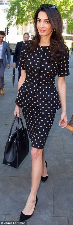 British human rights lawyer Amal Clooney (pictured outside court today)...