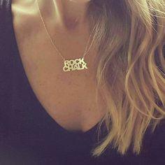 Kansas Jayhawks Rock Chalk Necklace; KU Jayhawks gold or silver necklace; University of Kansas Jewelry