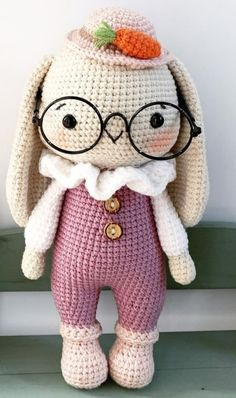 Crochet Bunny Pattern, Crochet Rabbit, Crochet Headband Pattern, Crochet Animal Patterns, Crochet Patterns Amigurumi, Amigurumi Doll, Crochet Baby Toys, Pink Rabbit, Stuffed Toys Patterns