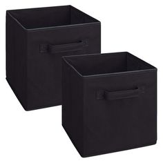 ClosetMaid 2-Pack Fabric Drawers Black. Will add the lady bug monogram M-A-G-G-I-E.
