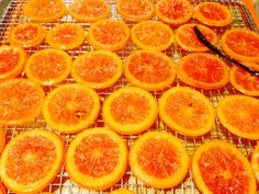 Housemade candied Cara Cara orange slices infused with cardamom and vanilla
