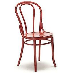 ORANGE painted wood cafe dining chair (shown in red) - http://remodelista.com/img/sub/uimg//02-2011/red-bentwood-chair-conran.jpg