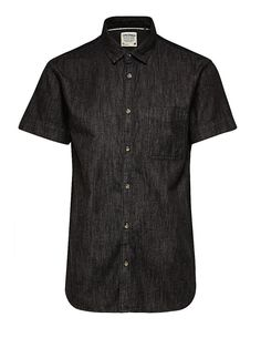 ORIGINALS by JACK & JONES - Denim-Hemd von ORIGINALS - Kurzärmelig - Slim fit - Standardkragen - Brusttasche 100% Baumwolle...