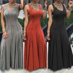Pleated Sleeveless Maxi Dress