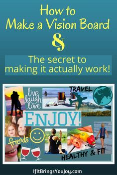 Learn how to bring your dreams to reality. Step-by-step guide to making a powerful vision board, and the secret to making your vision board actually work. #VisionBoards #Goals #Dreams