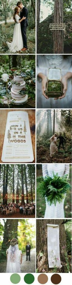 MY DREAM WEDDING!!!!!!! Set in the mountains of Grandpa Pierce's property, surrounded by ferns, black bears, and mossy stones ❤❤❤❤