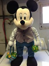 """DISNEY'S PLUSH """" EASTER MICKEY MOUSE """" PORCH / DOOR GREETER 26 INCH"""