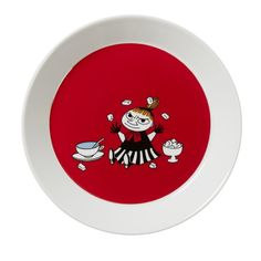 The brave and fearless Little My features these new red coloured�plate�by Arabia. The design is from the Conscientious Moomin in comic album