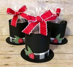 Kards by Kadie: Day of Christmas Extravaganza Top Hat Christmas Party Hats, Christmas Craft Show, Christmas Favors, Diy Christmas Ornaments, Felt Christmas, Christmas Treats, Christmas Projects, Holiday Crafts, Christmas Holidays