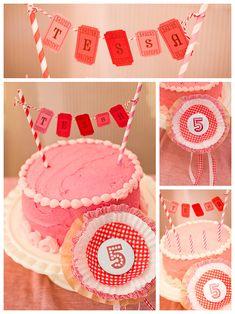 Easy cake decor for a fair-themed party #birthday #countyfair